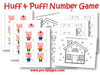 Three Little Pigs Number Identification Game
