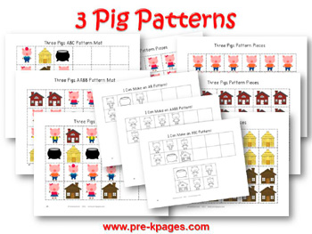 Three Little Pigs Patterning Activity