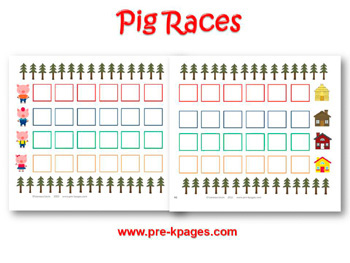 Three Little Pigs Races Board Game