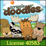 scrappin doodles license 40583