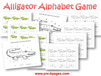 Fun Alligator Alphabet Identification Game for pre-k and kindergarten