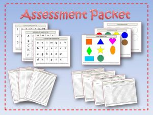 pre-k kindergarten assessment packet