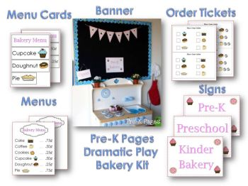 printable bakery kit