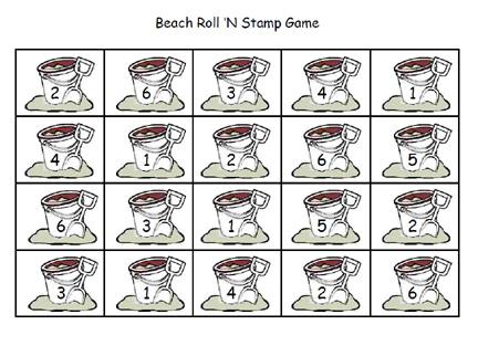 beach roll stamp