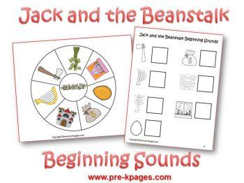 jack and the beanstalk beginning sounds activity