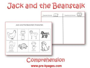 graphic regarding Jack and the Beanstalk Printable called Jack and the Beanstalk Personality Printable