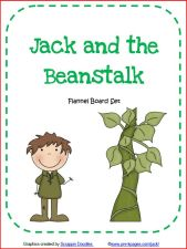 jack and the beanstalk printable flannel board set