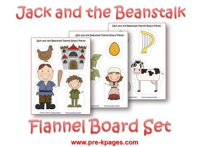 picture about Printable Felt Board Stories named Jack and the Beanstalk Printable Flannel or Magnetic Preset