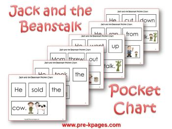 jack and the beanstalk pocket chart