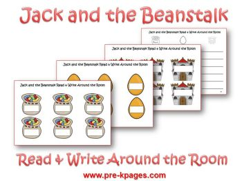 jack and the beanstalk read and write around the room