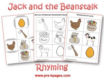 jack and the beanstalk rhyming activity