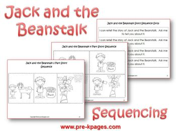 jack and the beanstalk story sequence pictures