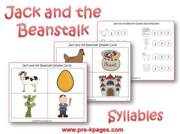 jack and the beanstalk syllable activity