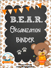 BEAR Binder: Printable Parent Communication Notebook for #preschool and #kindergarten