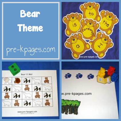 Bear Theme in Preschool
