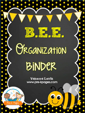 Bee Binder: Printable Parent Communication Notebook Packet for #preschool and #kindergarten