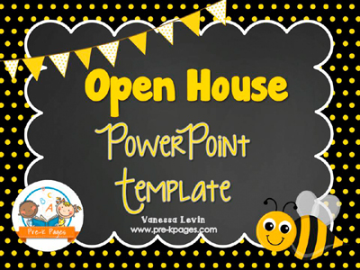 Bee Open House PowerPoint Template for #preschool and #kindergarten