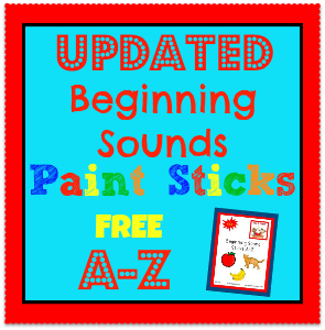 Free Printable Beginning Sounds Pictures A-Z for preschool and kindergarten