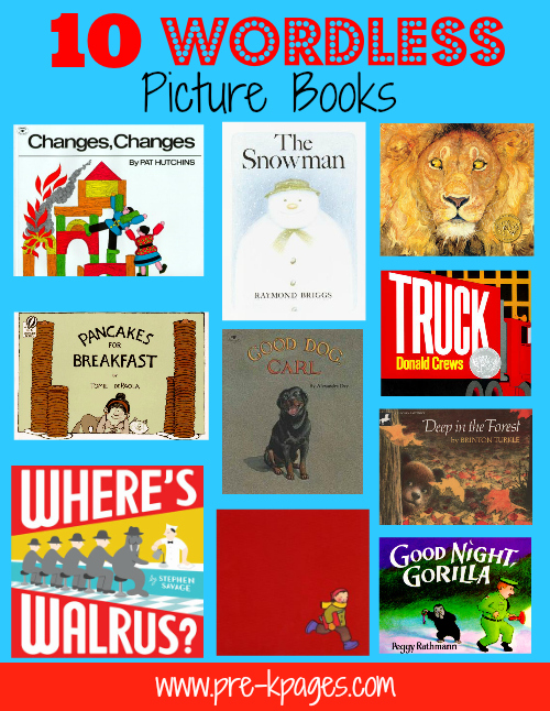 Nifty image with printable wordless picture books