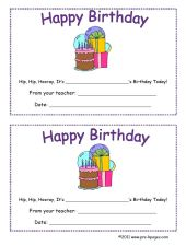 printable birthday certificate