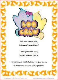 Halloween theme pre k preschool kindergarten youve been bood printable note m4hsunfo Gallery