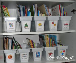 printable book bin labels