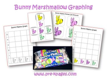 bunny mallow graphing activity in preschool