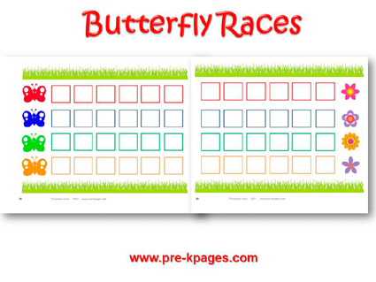 Printable Butterfly Races Board Game for #preschool and #kindergarten