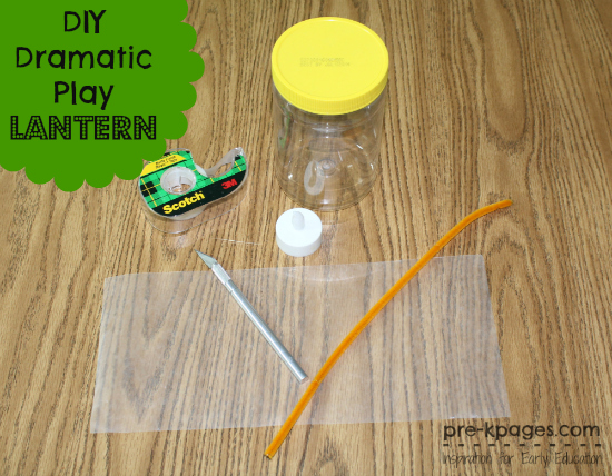 DIY Tutorial for Dramatic Play Camping Lantern in Preschool and Kindergarten