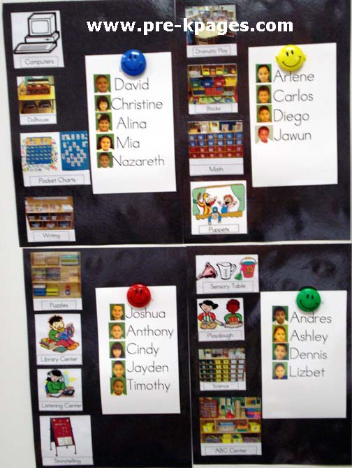 Classroom Rotation Ideas ~ Preschool center management