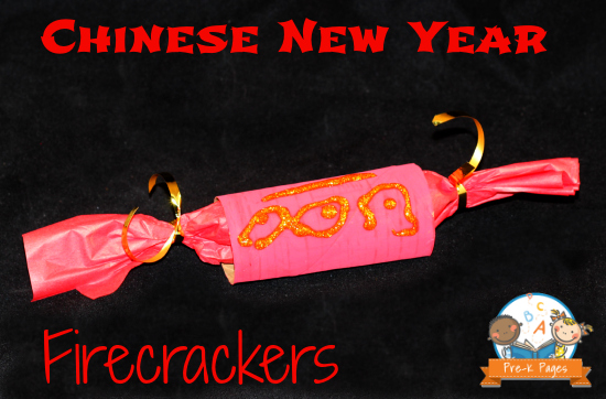 Chinese New Year Firecracker Craft for Preschool and Kindergarten