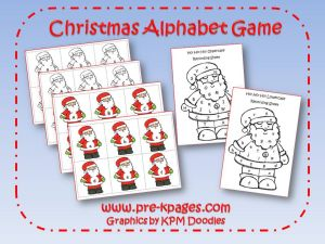 christmas alphabet game