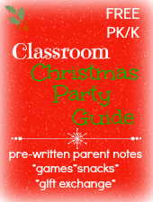 Christmas Classroom Party Guide for preschool, pre-k, or kindergarten via www.pre-kpages.com
