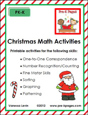christmas math packet cover