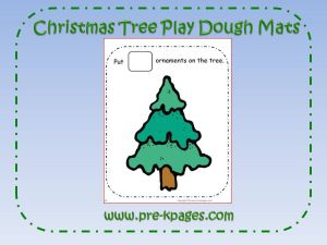 christmas tree play dough counting mats