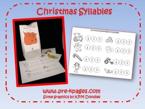 christmas syllable game