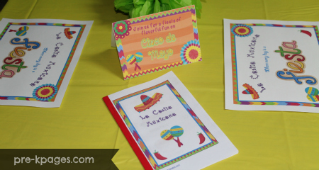 Mexican Restaurant Dramatic Play Center Printables for preschool and kindergarten