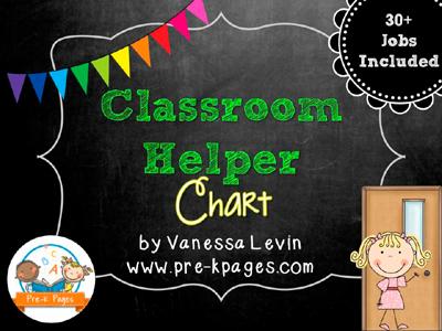 Classroom Helpers Chart In Preschool