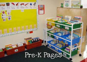 classroom library book tubs