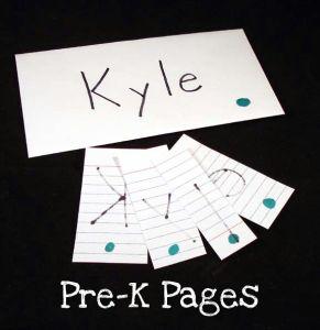 clothesline name envelopes