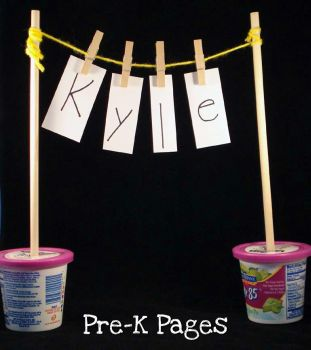 Name and Alphabet Recognition Activity plus fine motor via www.pre-kpages.com