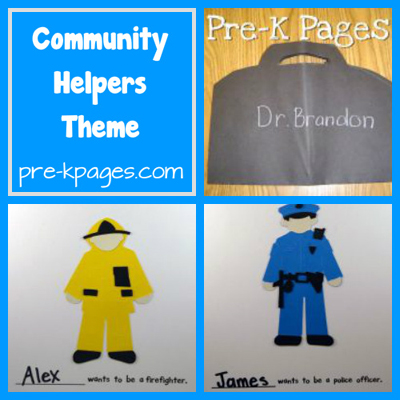community helper theme collage