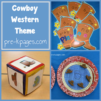 Cowboy Western Theme in Preschool