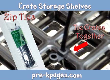 how to make crate storage shelves for the classroom