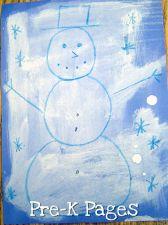wax resist snowman