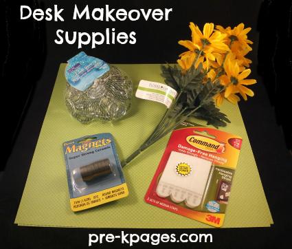 Teacher Desk Makeover Supplies via www.pre-kpages.com