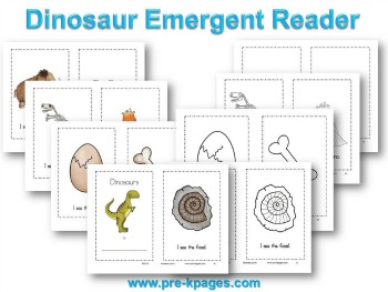 Printable Dinosaur Emergent Reader for #preschool #kindergarten