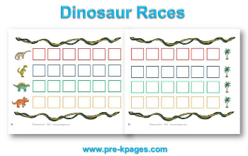 Printable Dinosaur Races Board Game for #preschool and #kindergarten