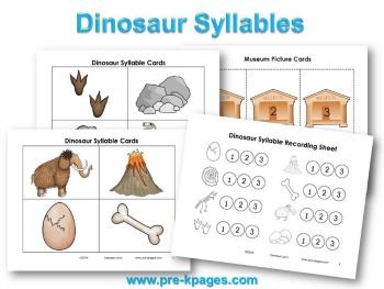 Printable Dinosaur Syllable Activity for #preschool #kindergarten