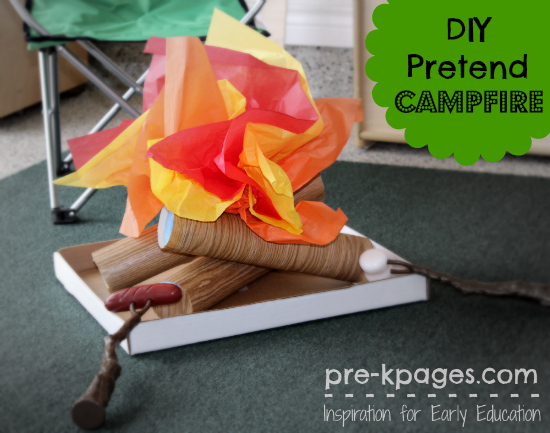 DIY Pretend Campfire for the Dramatic Play Center in Preschool and Kindergarten